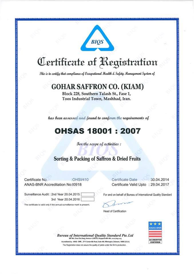 Chứng nhận OHSAS 18001 cho Hệ thống quản lý sức khỏe và an toàn