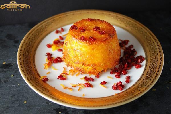 Saffron được sử dụng trong các món ăn