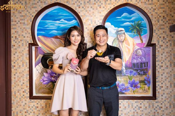 Vợ chồng diễn viên Minh Tiệp sử dụng nhụy hoa nghệ tây hàng ngày