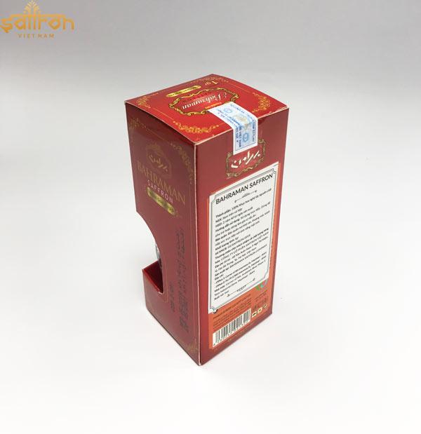 Tem chống hàng giả dược dán trên sản phẩm Saffron Bahraman