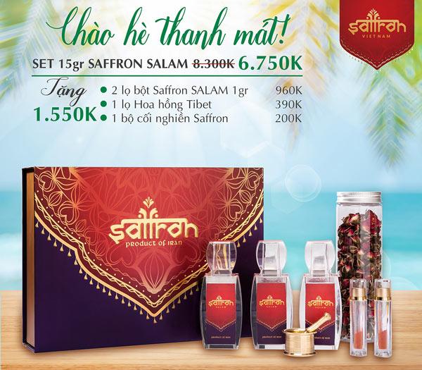 Mua set 15Gr Saffron SALAM TẶNG THÊM 1 lọ hoa hồng Tibet