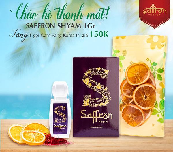 Mua 1Gr Saffron SHYAM TẶNG 1 gói cam vàng Korea sấy lạnh