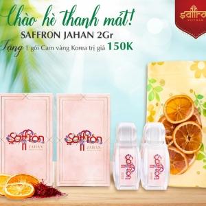 Mua 2Gr Saffron JAHAN TẶNG 1 gói cam vàng Korea sấy lạnh