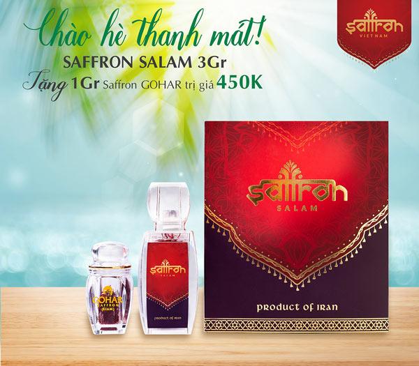 Mua Set 3Gr Saffron SALAM trị giá 1.350.000 TẶNG 1 lọ Saffron GOHAR