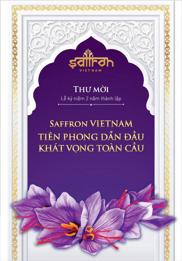 Thư mời tham gia sự kiện kỷ niệm 2 năm thành lập Saffron VIETNAM