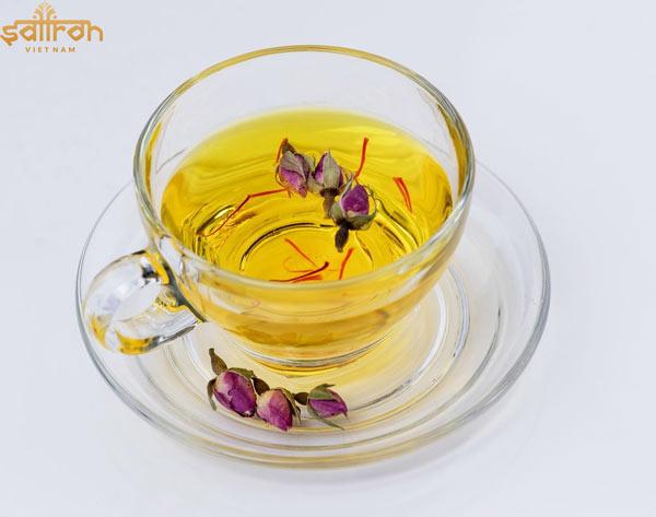 Cách sử dụng Bahraman Saffron pha trà uống hàng ngày