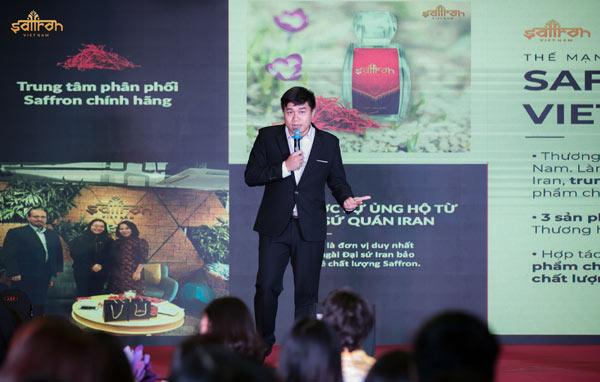 <em>Giám đốc Marketing Saffron VIETNAM phát biểu về tiềm năng thị trường saffron