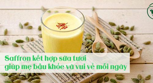 saffron-với-sữa-tươi-cho-mẹ-bầu-khỏe-mạnh