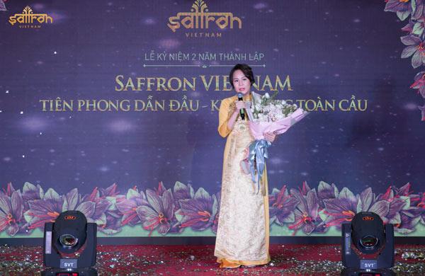 Tổng giám đốc Saffron VIETNAM Vũ Thanh Hòa phát biểu về hành trình chinh phục thị trường Việt Nam và gửi lời cảm ơn