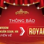 THÔNG BÁO:  Chuyển showroom 66-68 Trần Xuân Soạn,HN về Royal City