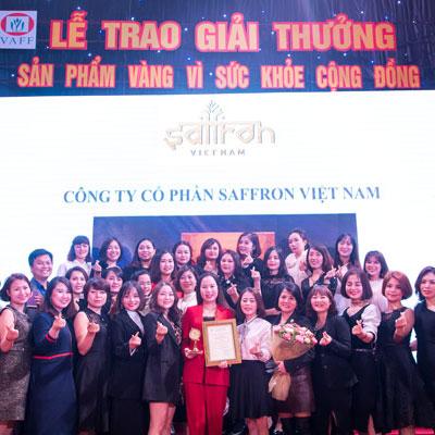 saffron-viet-nam-don-nhan-giai-thuong-san-pham-vang-vi-suc-khoe-cong-dong