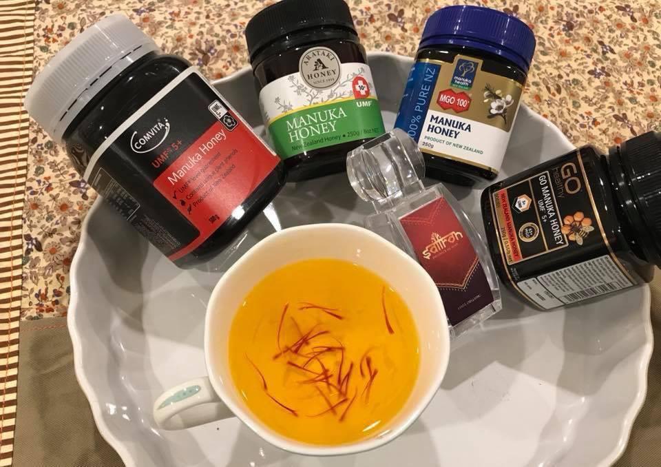 công dụng của saffron ngâm mật ong