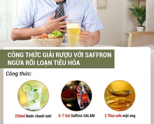 saffron giúp giải rượu