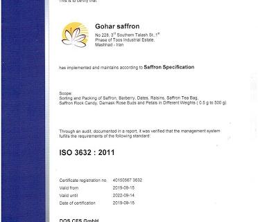 ISO 3632 - tiêu chuẩn duy nhất trên thế giới chứng nhận chất lượng của saffron