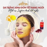 5 công thức mask saffron da căng bóng đón Tết