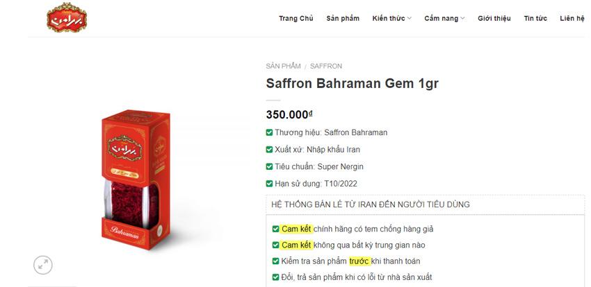 Review Saffron Bahraman