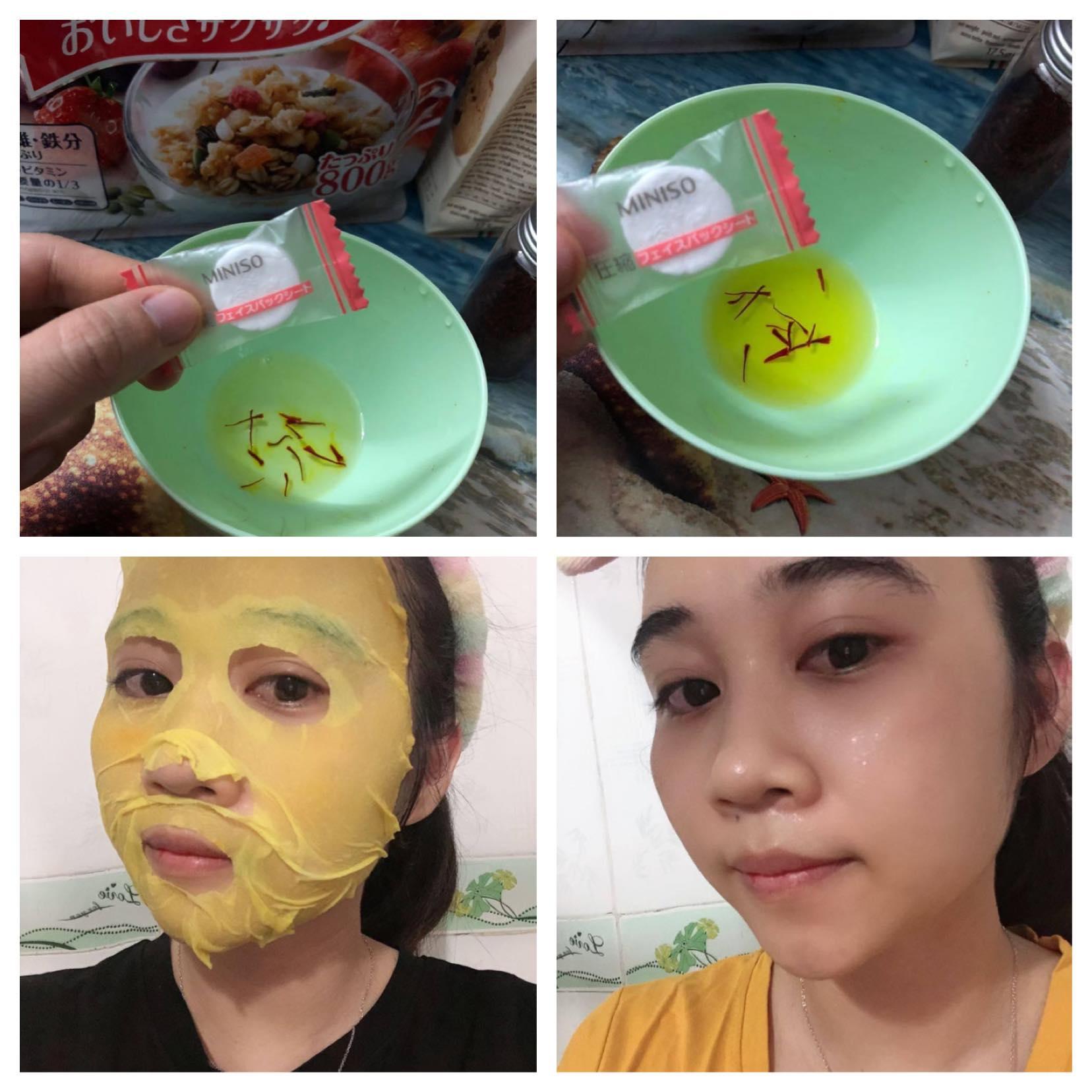 Saffron lotion mask