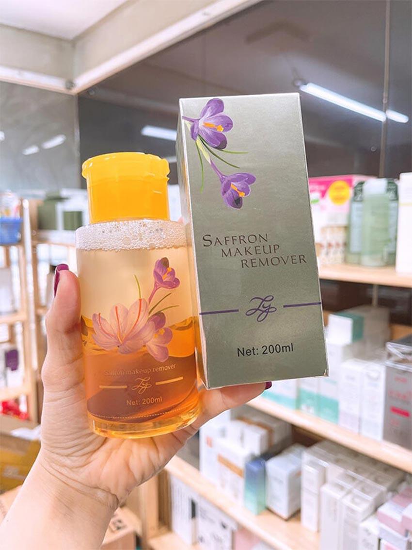 Th担ng tin s畉� ph畉� n動畛� t畉� trang Saffron Makeup Remover