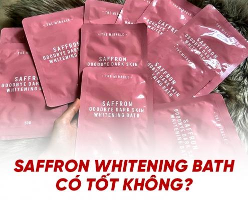 saffron whiteing bath